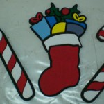 sagoma di calza natalizia